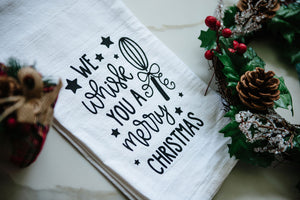 We Whisk you a Merry Christmas Tea Towel