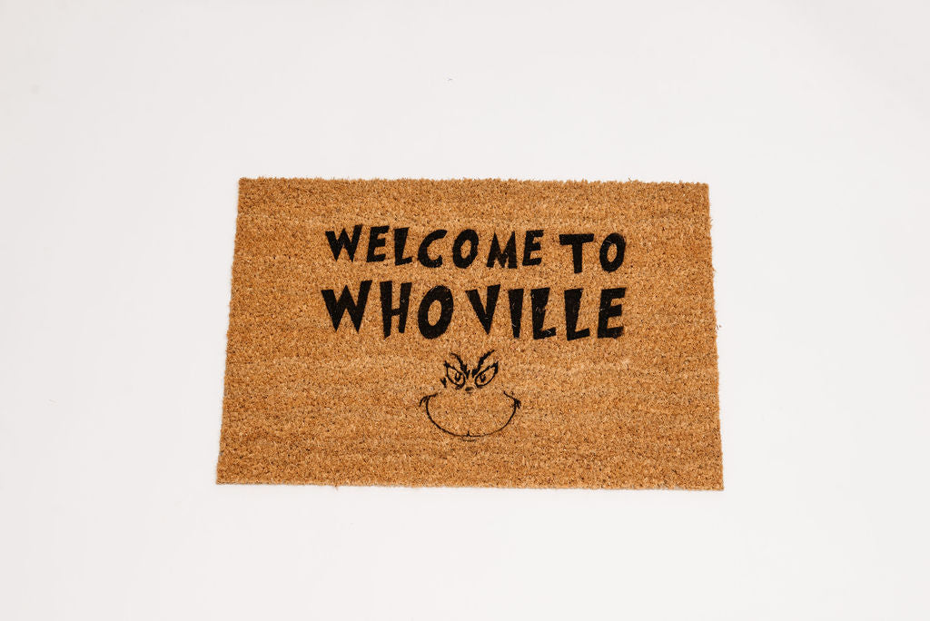 Welcome to Whoville Welcome Door mat