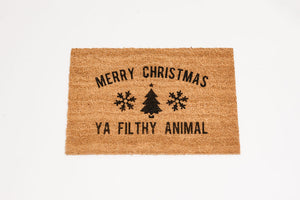 Merry Christmas ya Filthy Animal Welcome Door mat