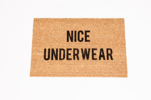 Nice Underwear Welcome Doormat
