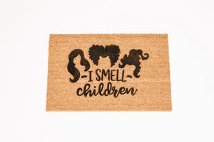 I SMELL Children Welcome Doormat