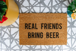 Real Friends Bring Beer Doormat