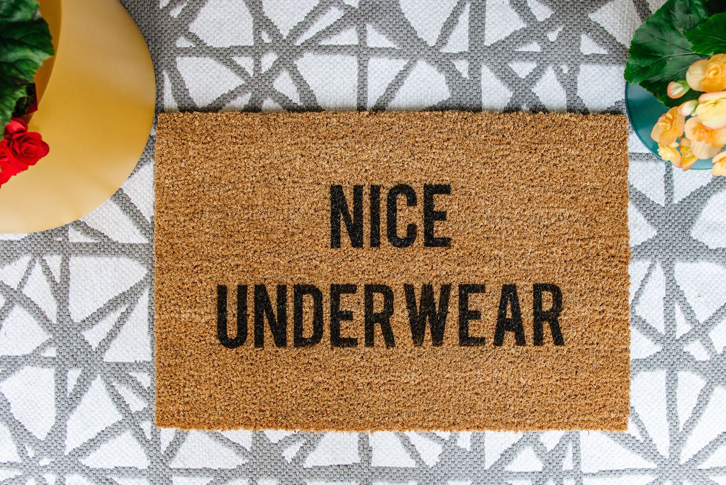 No Underwear Welcome Doormat