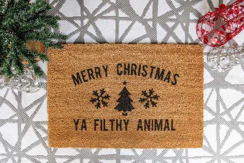 Merry Christmas Ya Filthy Animal Welcome Doormat