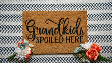 Load image into Gallery viewer, Grandkids Spoiled Here Welcome Doormat
