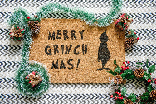 Merry Grinch Mas! Welcome Doormat