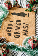 Load image into Gallery viewer, Merry Grinch Mas! Welcome Doormat