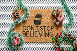 Don't Stop Believing Welcome Doormat