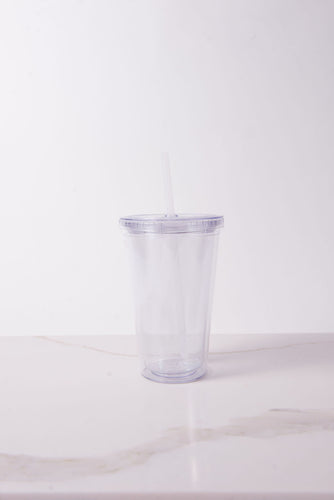 CUSTOM DESIGN - 16oz Double Walled Acrylic Tumbler