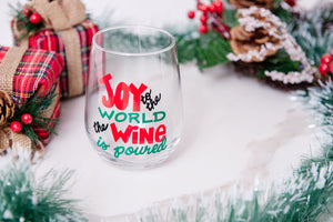 Joy to the World the Wine is poured