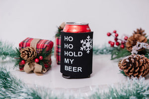Ho Ho Hold My Beer (single sided) Koozie