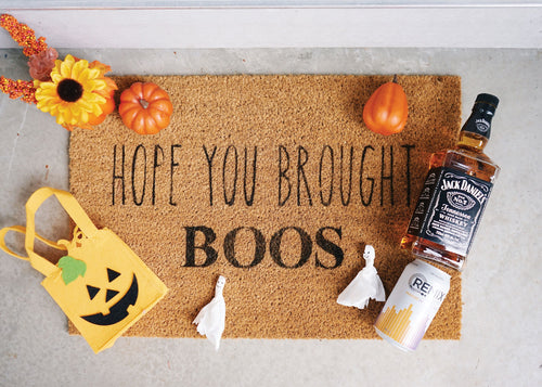Hope You Brought Boos Doormat