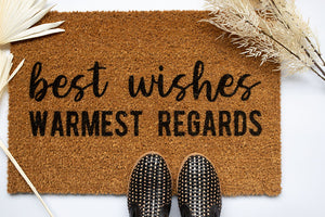 Best Wishes Warmest Regards Welcome Doormat