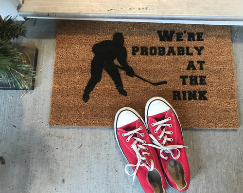We're Probably At The Rink Doormat