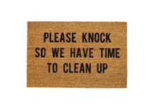 Load image into Gallery viewer, MonkeyFly Memories Please Knock So We Have Time To Clean Up Doormat