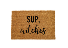 Load image into Gallery viewer, MonkeyFly Memories Sup Witches Doormat