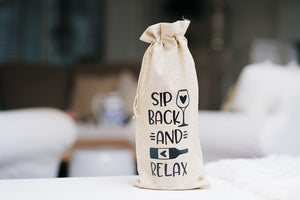 Sip Back and Relax Reusable Wine Bottle Bag