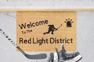 Welcome to the Red Light District Doormat