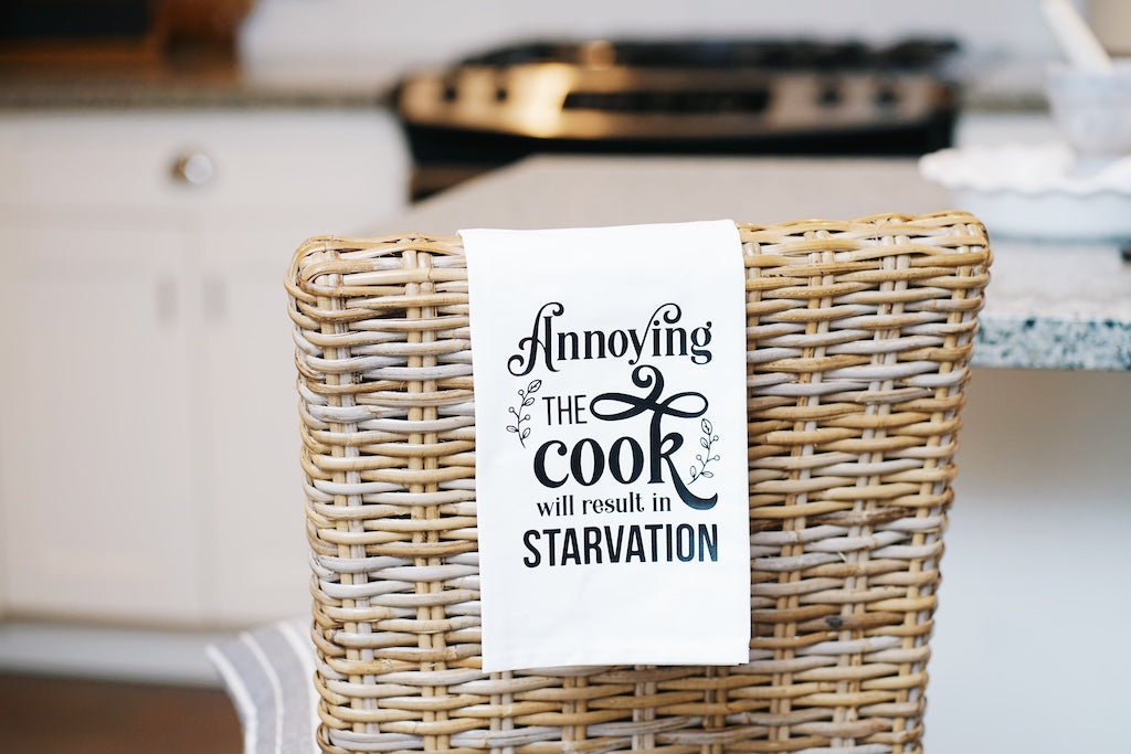 Annoying the Cook will Result in Starvation Tea Towel
