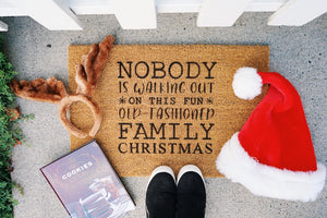 Nobody is Walking out on this fun Old-Fashioned Family Christmas Doormat