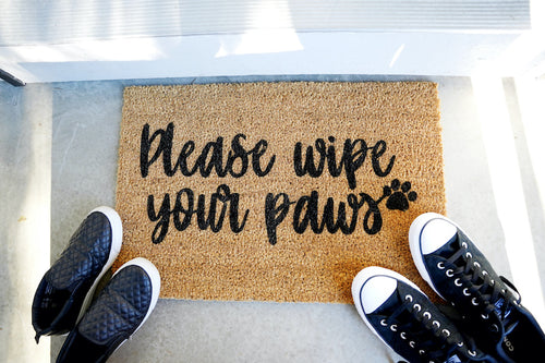 Please Wipe Your Paws Doormat