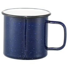 Load image into Gallery viewer, Camping Hair Don't Care 16oz Enamel Camping Mug