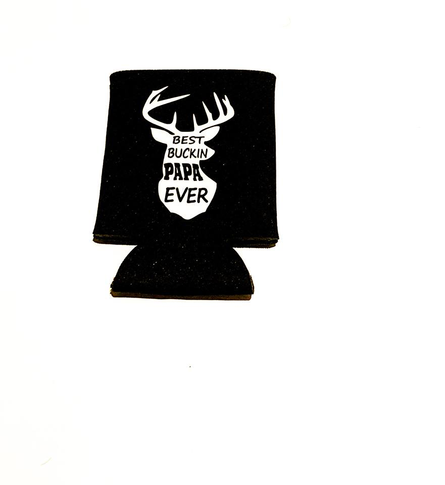 MonkeyFly Memories Best Bucking Papa Ever Koozie