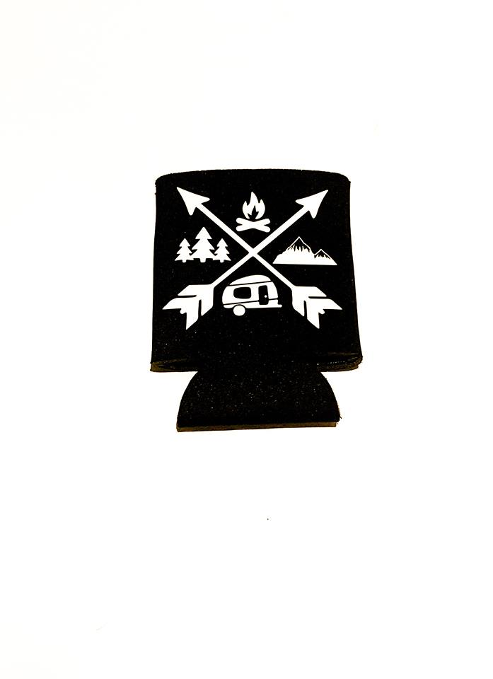 Camping Arrows Koozie