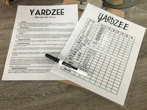 Yardzee Outdoor Garden Game