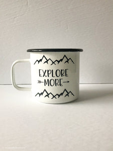 Explore More 16oz Enamel Camping Mug