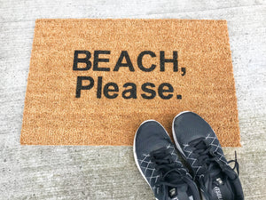 MonkeyFly Memories Beach Please Doormat