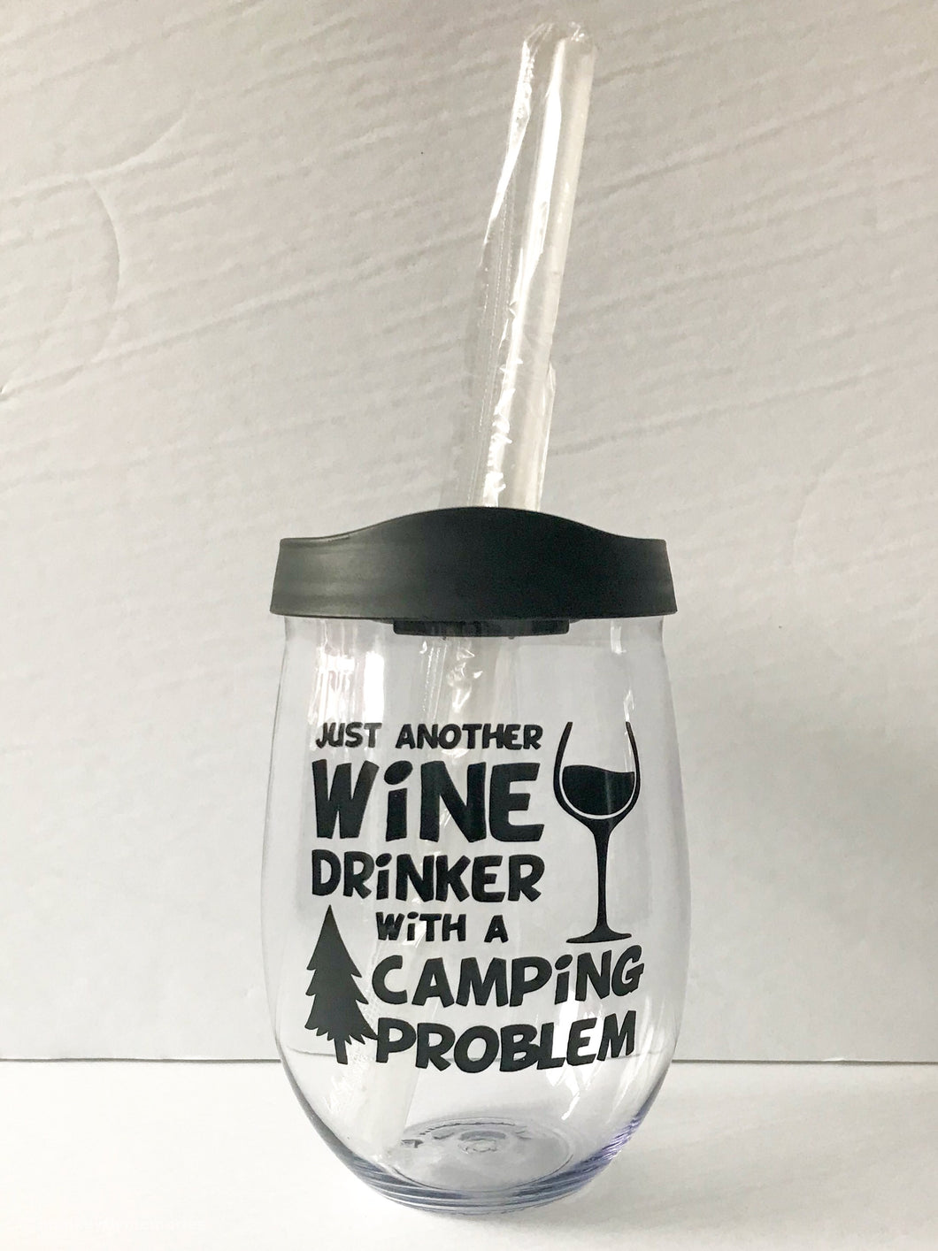 Just Another Wine Drinker.....18 oz Wine Tumbler (plastic)