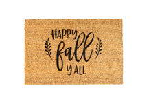 Load image into Gallery viewer, MonkeyFly Memories Happy Fall Y'all Doormat