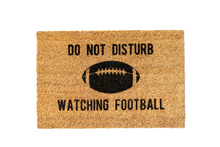 Load image into Gallery viewer, MonkeyFly Memories Do Not Disturb Watching Football Doormat