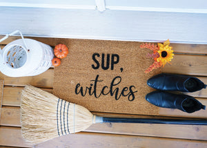 MonkeyFly Memories Sup Witches Doormat