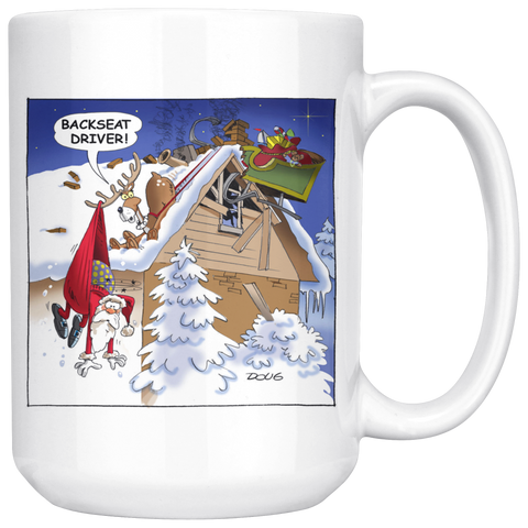Backseat Driver, 15oz Coffee Tea Ceramic Mug, Great Gift Idea!