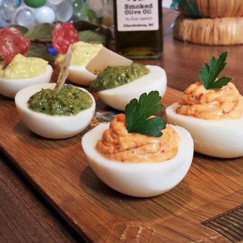 Smoky Deviled Eggs (3 different ones)