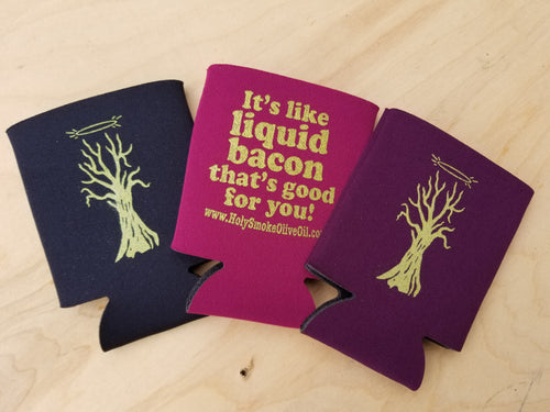 Coozies branded with holy smoke
