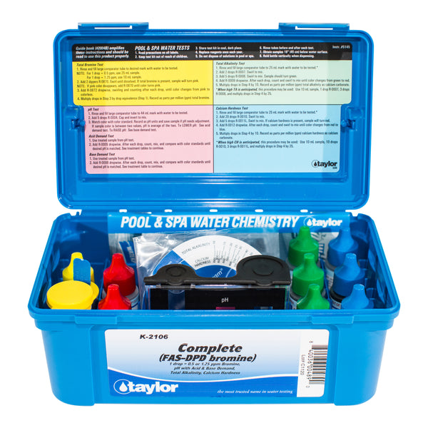 Taylor K-2106 Complete (FAS-DPD Bromine) Test Kit