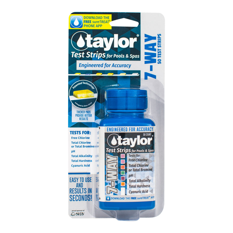 Taylor 7-Way Pool and Spa Test Strips