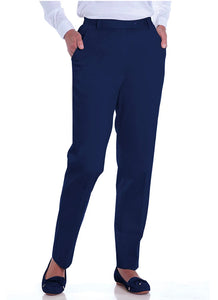 Petite Stretch Twill Flat Front Pants
