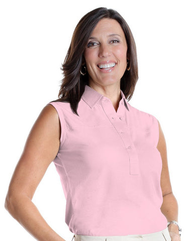Sleeveless Solid Polo</br>Carnation 753