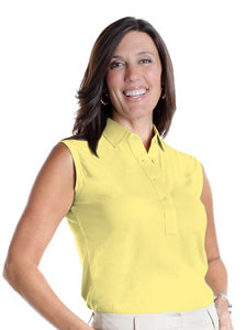 Sleeveless Solid Polo</br>Lemonade 509 - Leonlevin