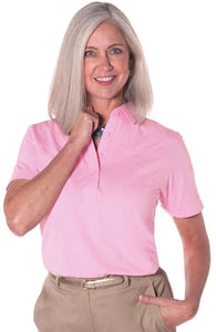 Short Sleeve Solid Polo | Carnation 753 - Leonlevin
