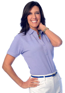 Short Sleeve Solid Polo</br>Pansy 758