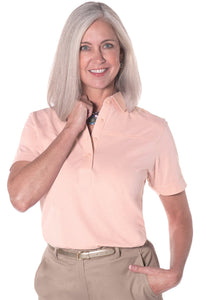 Short Sleeve Solid Polo</br>Sugared Peach 24P - Leonlevin