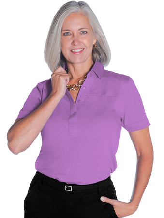 Short Sleeve Solid Polo</br>Viola 20D