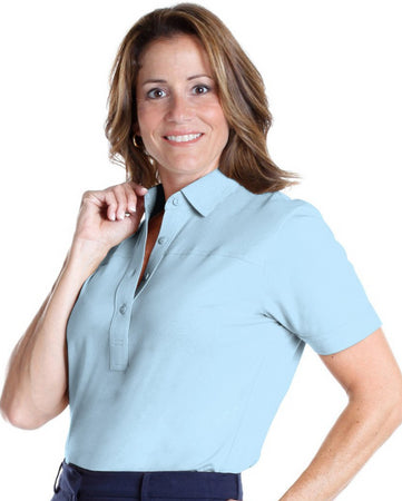 Short Sleeve Solid Polo</br>Bluebell 755