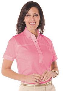 Short Sleeve Solid Polo</br>Coral Sand 28P - Leonlevin