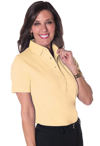 Short Sleeve Solid Polo <br> Harvest Yellow 33P - Leonlevin
